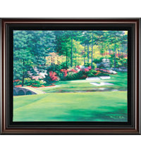 Framed Canvas Art - Augusta 12th Hole