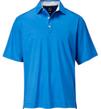 Men's Lisle Cross Print Short Sleeve Polo