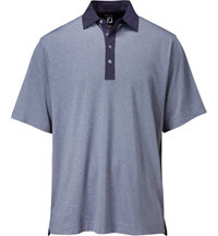 Men's Lisle Heather Solid Trim Short Sleeve Polo