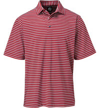 Men's Lisle Multi Stripe Short Sleeve Polo