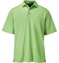 Men's V-Jacquard Print Short Sleeve Polo