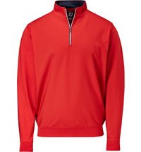 Men's Performance Half-Zip Gathered Bottom Pullover