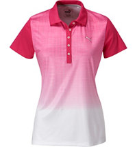 Women's Texture Fade Short Sleeve Polo