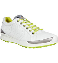 Men's BIOM Hybrid HM Spikeless Golf Shoe-White/Lime Punch