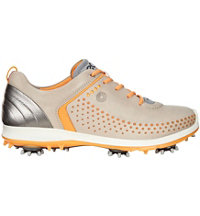 Women's BIOM G2 Spiked Golf Shoe-Oyster/Fanta