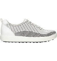 Women's Casual Hybrid Knit Spikeless Golf Shoe-White/Black/White