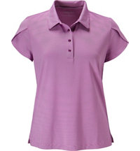 Women's Tonal Stripe Short Sleeve Polo