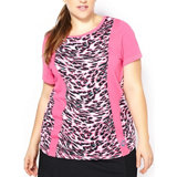 Women's Plus Size Jersey Printed Short Sleeve T