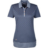 Women's Diamond Print Short Sleeve Polo