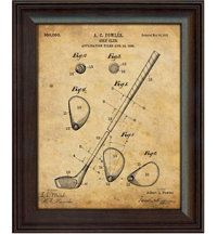 Framed Vintage Art Print - Golf Club