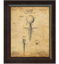 Framed Vintage Art Print - Golf Tee