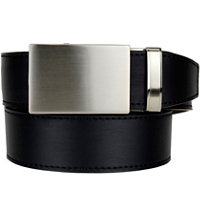 Men's Golf Series Fast Eddie Leather Belt-Shield Black/Black