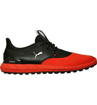 Men's Ignite Sport Spikeless Golf Shoe-Red Blast/Puma Black