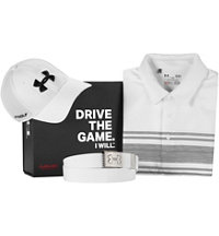 Men's Under Armour White Polo Box