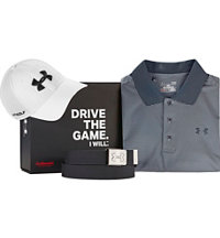 Men's Under Armour Grey Polo Box