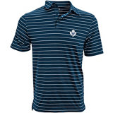 Men's Monaco Toronto Maple Leafs Stripe Short Sleeve Polo