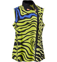 Sleeveless Animal Print Mock