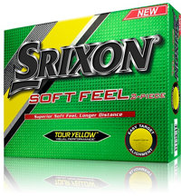 Soft Feel Tour Yellow Golf Balls