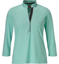 Women's 3/4 Sleeve Zip Mock