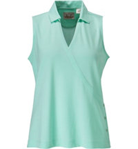 Women's Sleeveless Crossover Polo