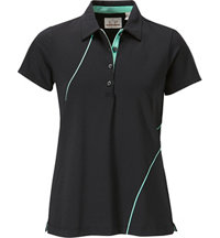 Women's Short Sleeve Piped Polo
