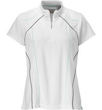 Women's Short Sleeve Zip Mock