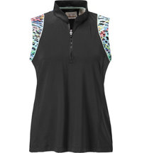 Women's Sleeveless Zip Mock
