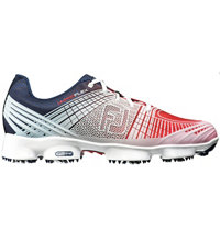 Men's Hyperflex II Spiked Golf Shoe-Red/White/Blue (#51033)