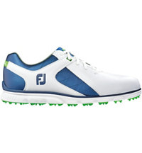 Men's Pro SL Spikeless Golf Shoe-White/Blue (#53584)