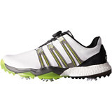 Men's Powerband BOA Boost Spiked Golf Shoes- White/Silver/Lime