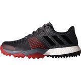 Men's Adipower Sport Boost 3 Spikeless Golf Shoes- Black/Red
