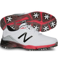 Men's NBG2004WRD Spiked Golf Shoes- (White/Red)