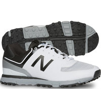 Men's NBG518 Spikeless Golf Shoes- (White/Black)
