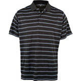 Men's Two Color Stripe Short Sleeve Polo