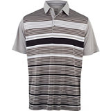 Men's Engineered Panel Stripe Short Sleeve Polo