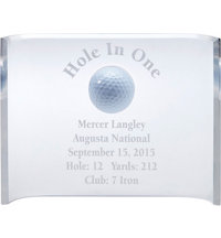 Hole-In-One Acrylic Crescent Award (6 x 8)