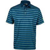 Men's Heathered Striped Short Sleeve Polo