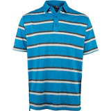 Men's B&T Heather Printed Striped Short Sleeve Polo