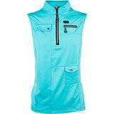 Women's Solid Zip Sleeveless Mock