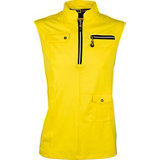 Women's Zip Solid Sleeveless Mock