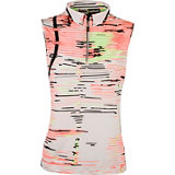 Women's Multi Print Sleeveless Mock