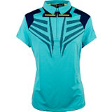 Women's Print Short Sleeve Polo