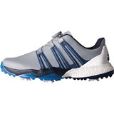 Men's Powerband Boa Boost Spiked Golf Shoe - Grey/Slate/Blast Blue