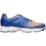Men's Hyperflex Bio Web Sport Spiked Golf Shoe - Nav/Orn