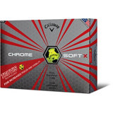 Chrome SoftX Yellow Golf Balls with Truvis Technology, 12 pk