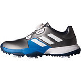 Junior Adipower Boa Spiked Golf Shoe - Silver/Blue