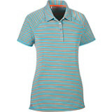 Women's Two Stripe Short Sleeve Polo