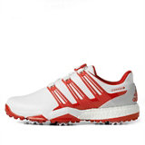 Men's Powerband Boa Boost Spiked Golf Shoe - White/Red