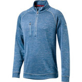 Men's Elevated Heathered Quarter-Zip Sweater