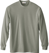 Men's Logo Long Sleeve Interlock Mock
